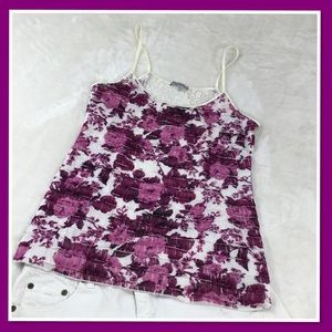 CHARLOTTE RUSSE PURPLE LAYERED LACE TOP XL